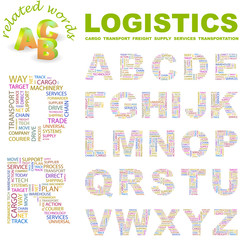LOGISTICS. Vector letter collection.