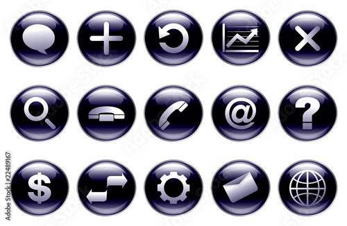 Modern button set of icons(connection)