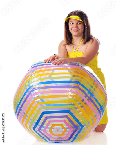 Young Beach Ball Beauty