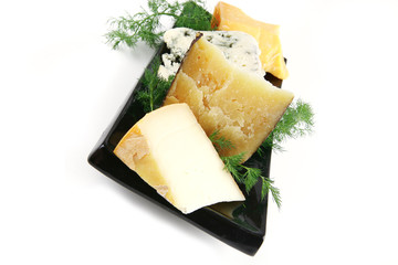 delicatessen cheese on plate