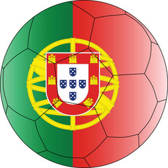 Soccer vector ball Portugal
