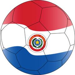 Soccer vector ball Paraguay