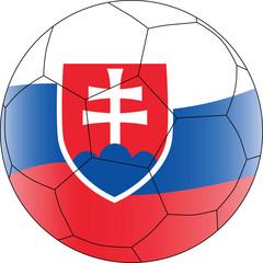 Soccer vector ball Slovakia