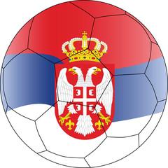 Soccer vector ball Serbia
