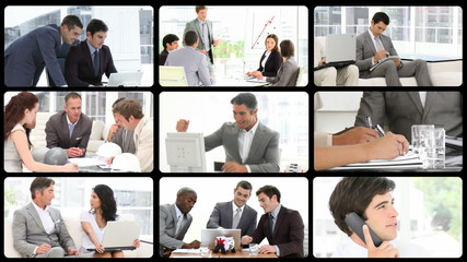 3D animation presenting business people at work