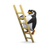 3d Penguin climbs the ladder