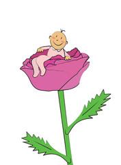 bébé fille naissance rose