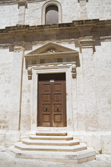 Portal of St. Joseph Church. Monopoli. Apulia.