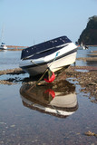 motor boat on River Teign poster