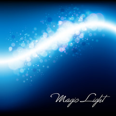 Magical Lights - Abstract Blue Vector Background Design