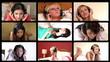 Stock animation of women listening music in HD