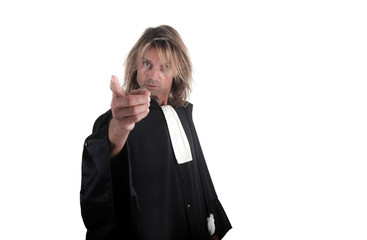 Justice - Avocat pointant du doigt