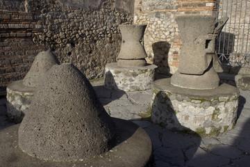 reconstruction de la boulangerie de Pompéi