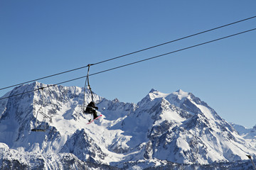 Ski lift, Courchevel, France