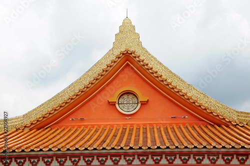 Symmetrical Roof Pattern Of A Chinese Temple