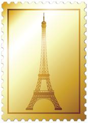"Gold mark ""Eiffel tower"""