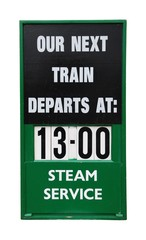 Vintage train placard