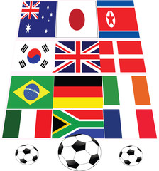 football and flags