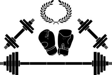 weights and bixing gloves