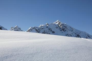 France, Alps, fresh snow
