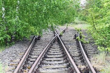 Stillgelegte Bahngleise