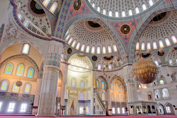 Interior of Kocatepe Mosque in Ankara - Turkey