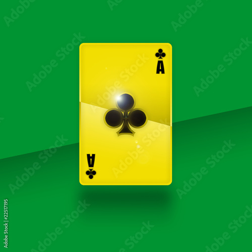 Golden playing card