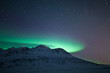 Aurora Borealis over mountains