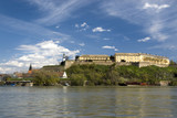 Petrovaradin castle on Danube, state of EXIT festival poster