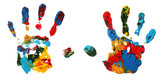 Fototapety Hand prints