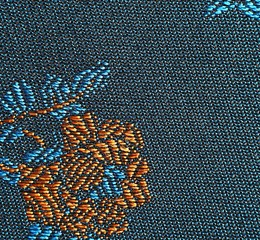 Closeup of Blue Fabric