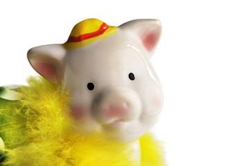 female piggy bank