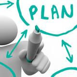 Drawing Plan Flowchart on Board poster