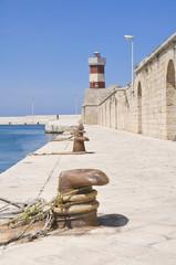 Lighthouse on Monopoli Old Port. Apulia.