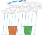 Conceptual Rainwater Harvesting Illustration poster