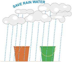 Conceptual Rainwater Harvesting Illustration