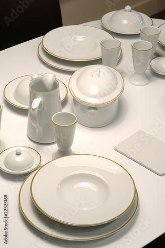served table