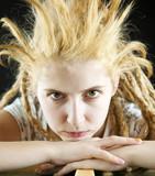 strange hairdo poster