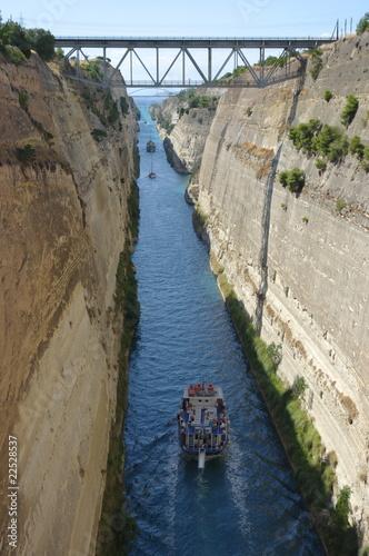 Leinwandbild Motiv Corinth Canal, Greece