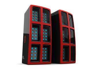 2 regular computer servers
