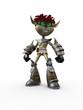 Aggressive 3d character