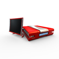 Red Personal Computer