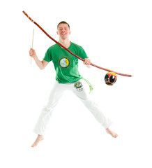 capoeira dancer posing