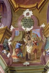 Scenes from the life of Saint Ignatius of Loyola, church ceiling