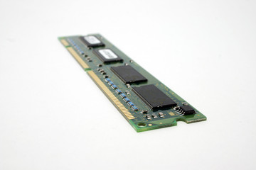 A peice of Computer memory module.