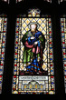 Saint Mark stained glass in Coventry Holy Trinity Church
