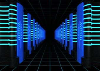 computer server farm abstract