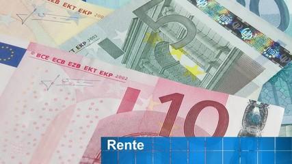 Geldscheine und Rente - Konzept Video