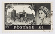 One pound stamp depicting Windsor Castle