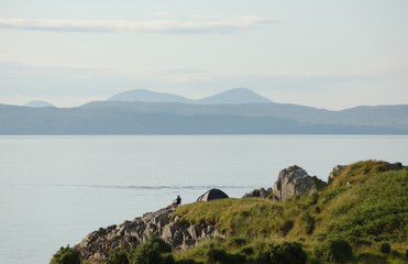 Wild camping at Arisaig